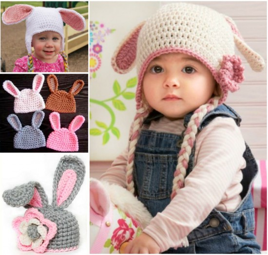 6e40f8793f67e4 8 Wonderful Free Patterns for Crochet Floppy Bunny hats