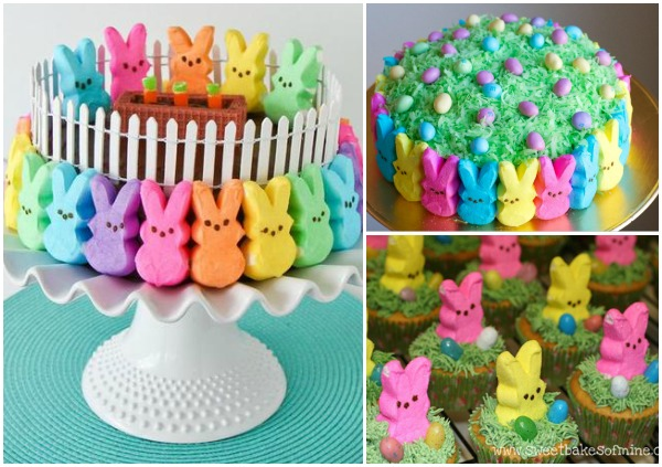 Easter Peep Cakes and Desserts wonderfuldiy f Wonderful DIY Super Cute Easter Peep Cake
