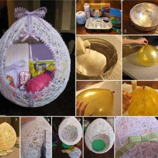 Wonderful DIY Easter String Egg / Basket