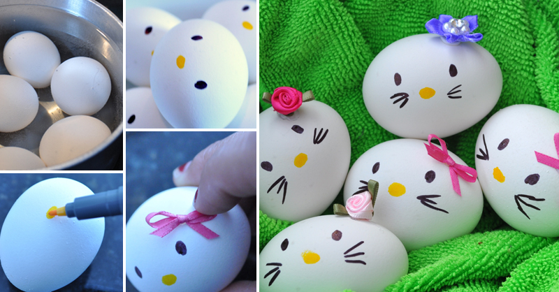 Hello Kitty Easter Egg wonderfuldiy fb Wonderful DIY Hello Kitty Egg and More 12 Easter Egg Projects