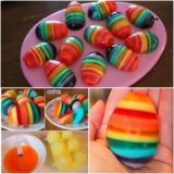 Wonderful DIY Rainbow Jello Easter Eggs