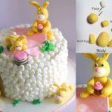 Wonderful DIY Easter Marshmallow Bunny Cake