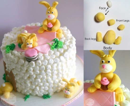 Marshmallow Bunny Cake wonderfuldiy Wonderful DIY Easter Marshmallow Bunny Cake
