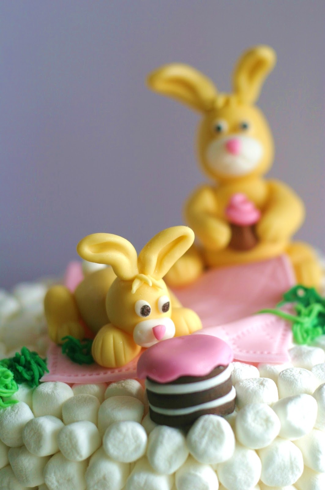 Marshmallow Bunny Cake wonderfuldiy1 Wonderful DIY Easter Marshmallow Bunny Cake