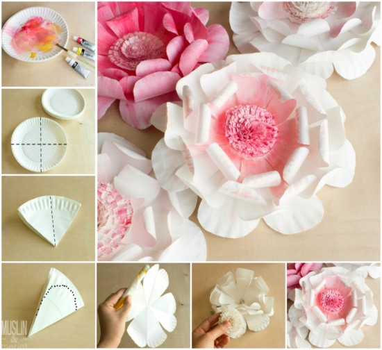 Wonderful diy paper plate flower mightylinksfo