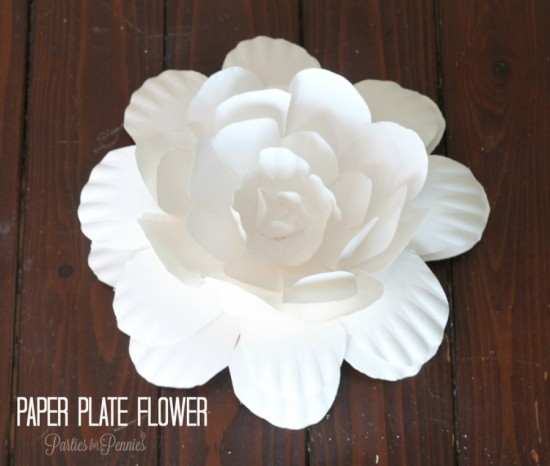 Paper Plate Flowers wonderfuldiy1 Wonderful DIY Paper Plate Flower