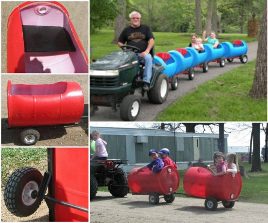Plastic Barrel Train wonderfuldiy Wonderful DIY Choo Choo Train from Plastic Barrel