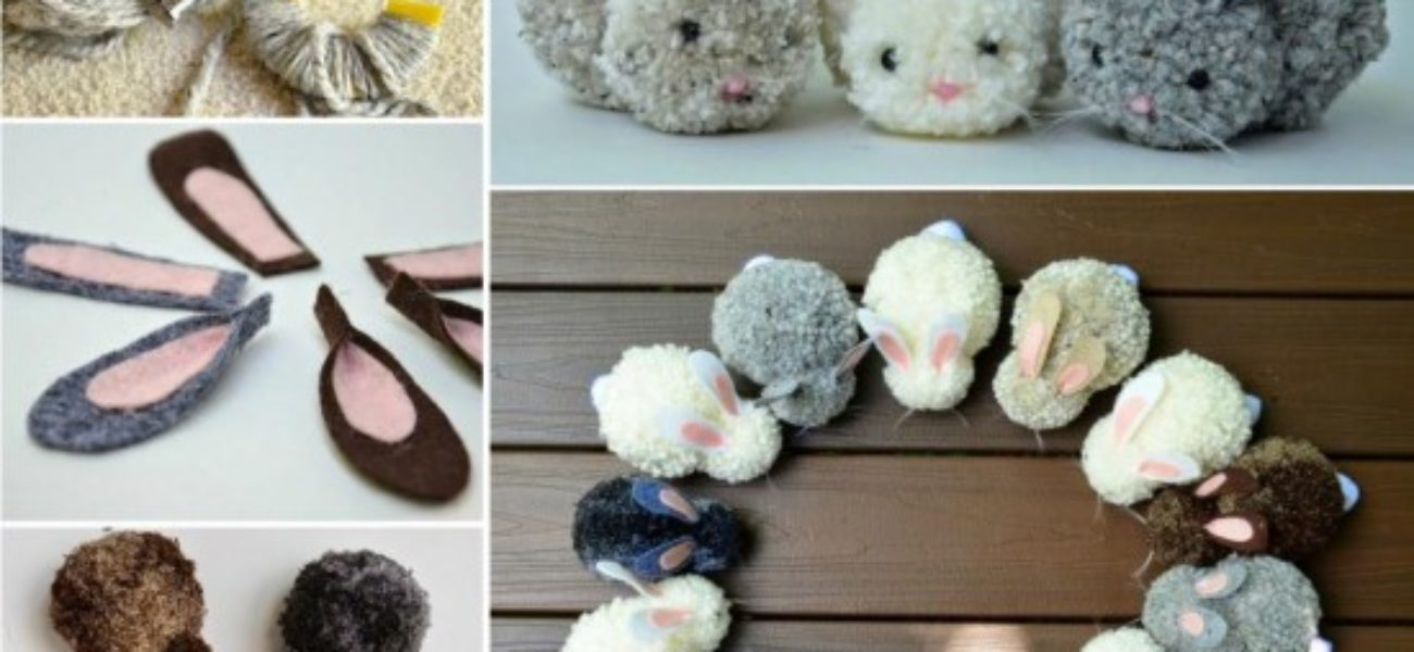 Adorable DIY Pom Poms: Make Finger Yarn Bunnies