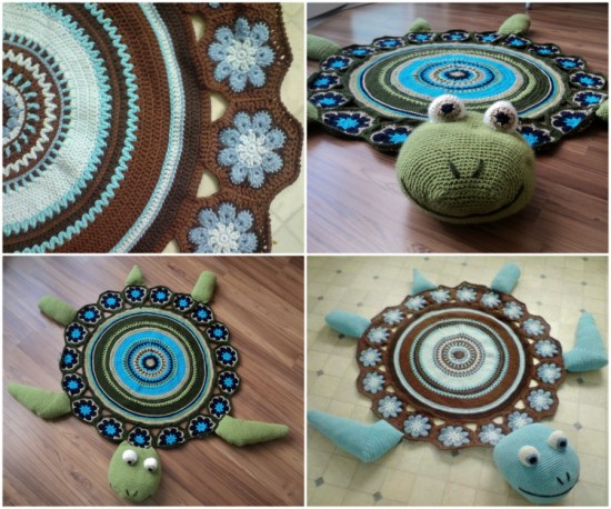 Wonderful Diy Crochet Sea Turtle Rug With Free Pattern