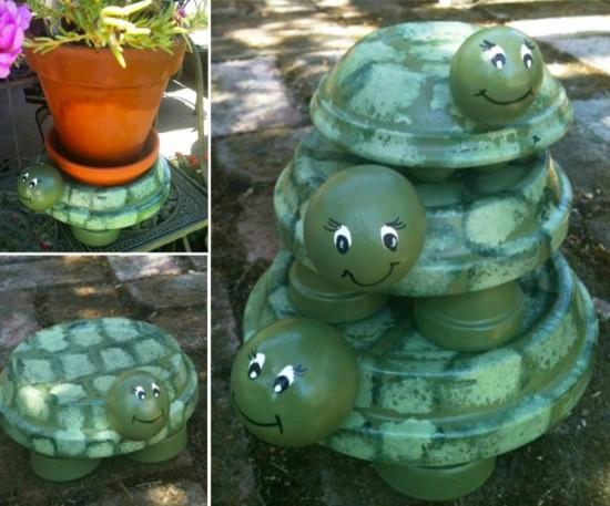 Terracotta Pots Turtles wonderfuldiy DIY Terracotta Pot Turtles That Look Cute