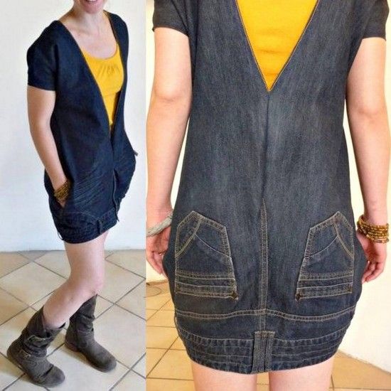 Upside-down-upcycled-jeans-denim-dress-wonderfuldiy