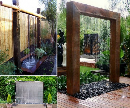 Water Wall 550x458 Wonderful DIY Patio Water Wall