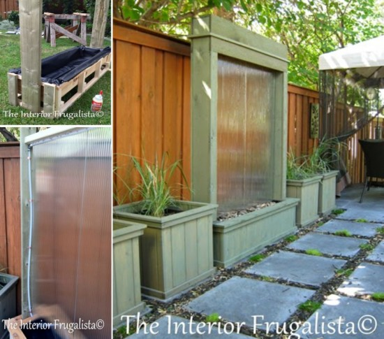 Water Wall Tutorial 550x485 Wonderful DIY Patio Water Wall