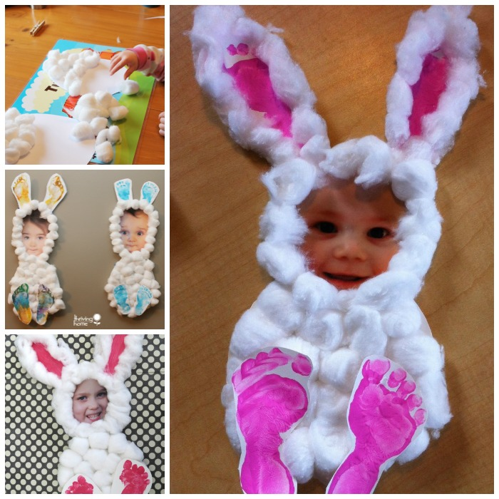 cottonball bunny wonderfuldiy f2 Wonderful DIY Easy and Cute Easter Hand & Foot Print Art