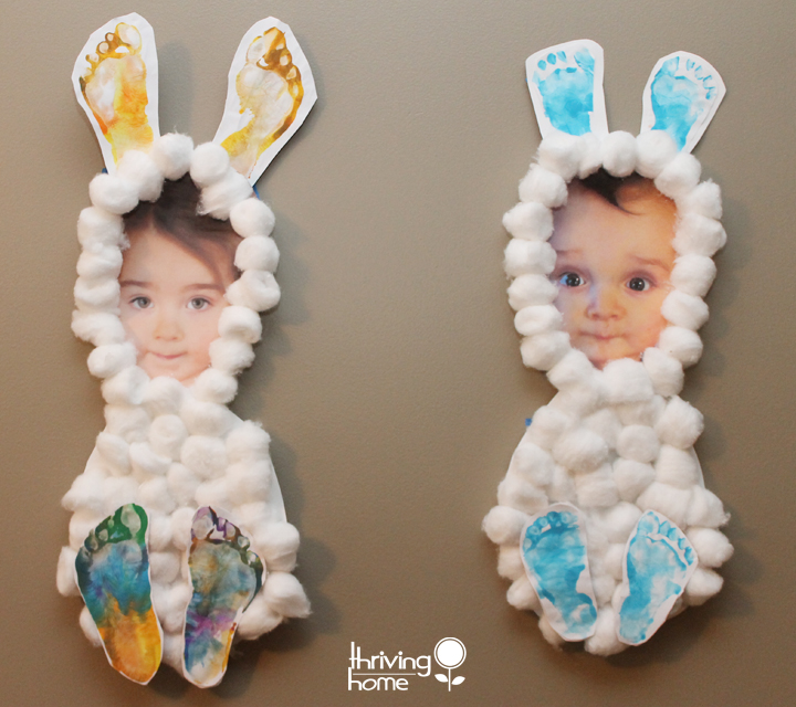 cottonball bunny wonderfuldiy Wonderful DIY Easy and Cute Easter Hand & Foot Print Art