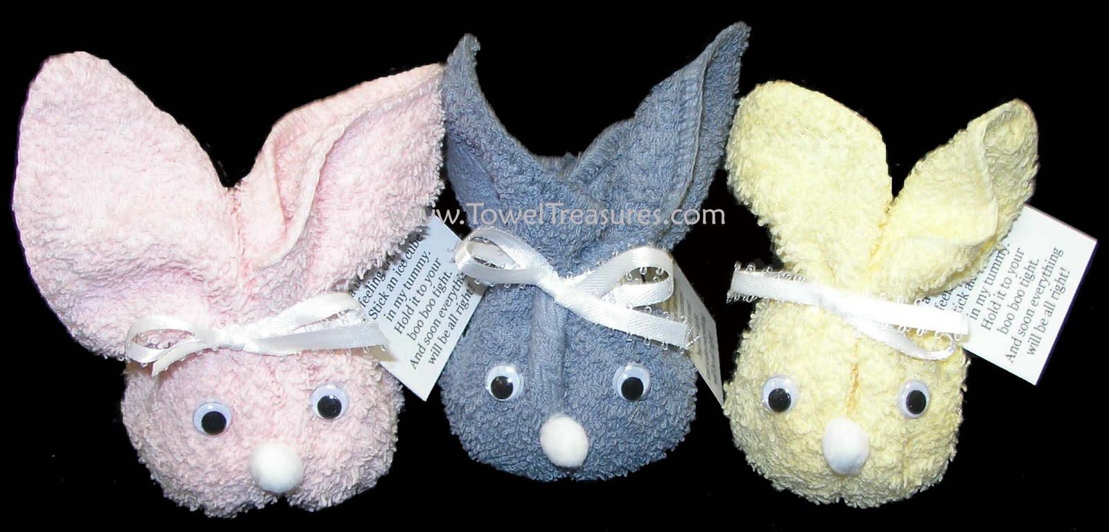 cute towel bunny wonderfuldiy1 Wonderful DIY Adorable Towel Puppy