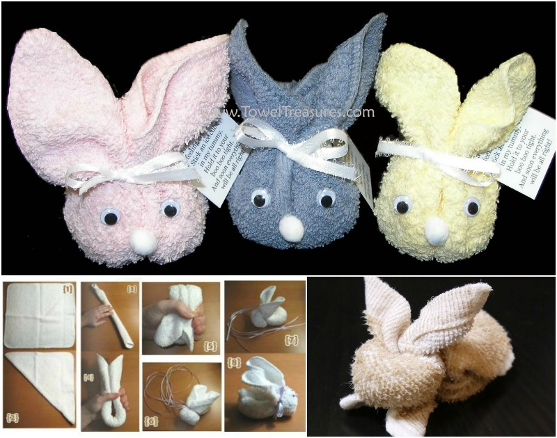 Wonderful diy cute towel bunny for How to fold decorative bathroom towels