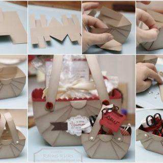 Wonderful DIY Cute Paper Basket  Storage / Gift Box