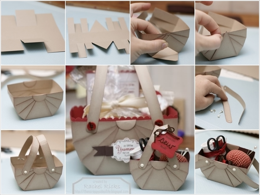 diy cardboard storage basket wonderfuldiy Wonderful DIY Cute Paper Basket  Storage / Gift Box