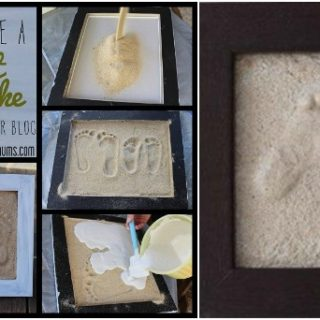 Wonderful DIY  Sand Footprint Keepsake