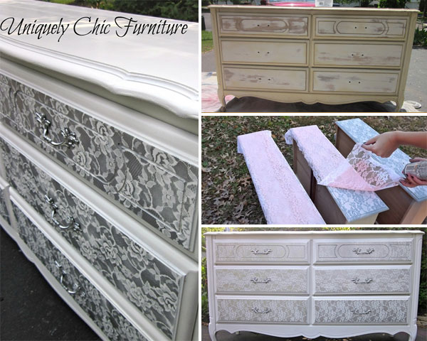 lace furniture wonderfuldiy3 Wonderful DIY Lace Painted Furniture