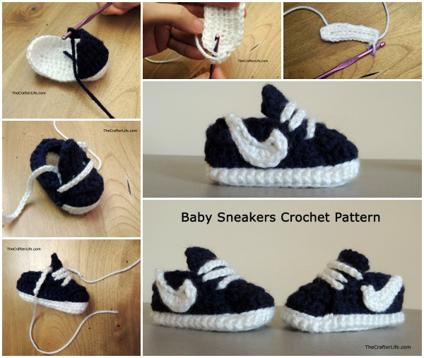 BabySneakersCrochetPattern wonderfuldiy f Homemade Nike Baby Sneakers   Free Patterns and Tutorial