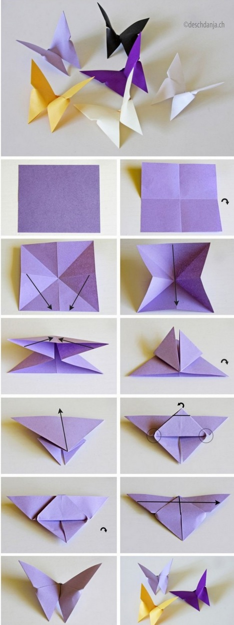 VIEW IN GALLERY Butterfly Origami Tutorial