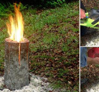 Wonderful DIY Swedish Log Candle