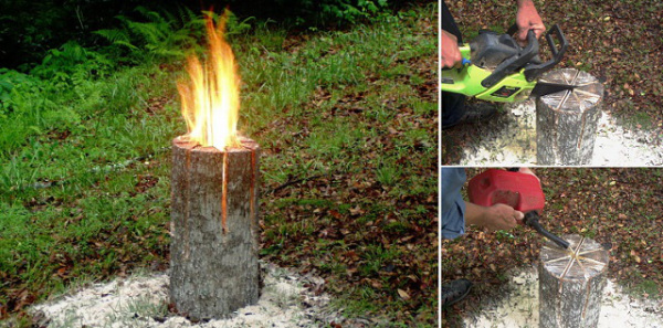 Campfire Fun Swedish Log Candle Wonderful DIY Swedish Log Candle