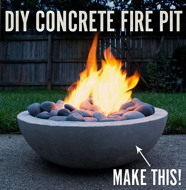Cool DIY fire pit idea Fiery DIY: Make Your Own Super Cool Modern Concrete Fire Pit