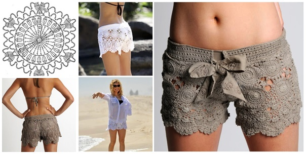 Crochet lace shorts Pattern-FB