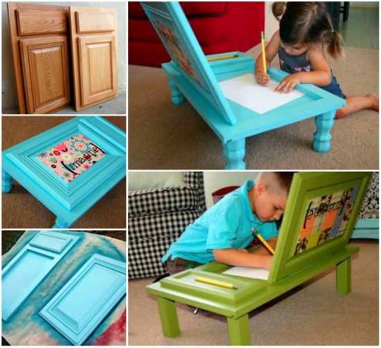 Cupboard Door wonderfuldiy Wonderful DIY Cupboard Door Art Desk for Kids