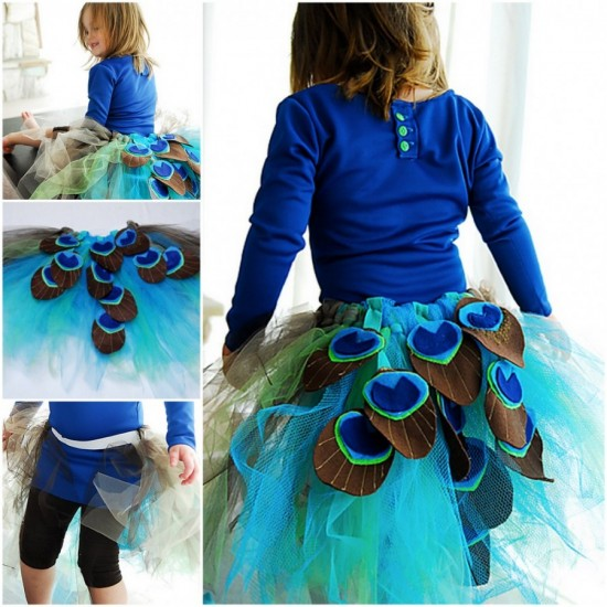 DIY-Rinbow-Peacock-Tutu-Skirt-Tutorial