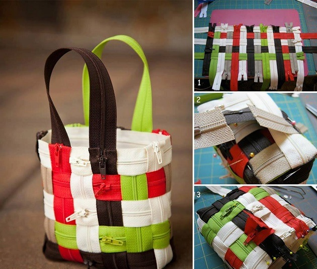DIY zipper bag idea11 Wonderful DIY Lovely Woven Zipper Bag