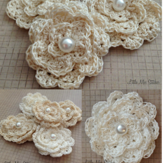 Dainty DIY Crochet Flowers With Free Pattern