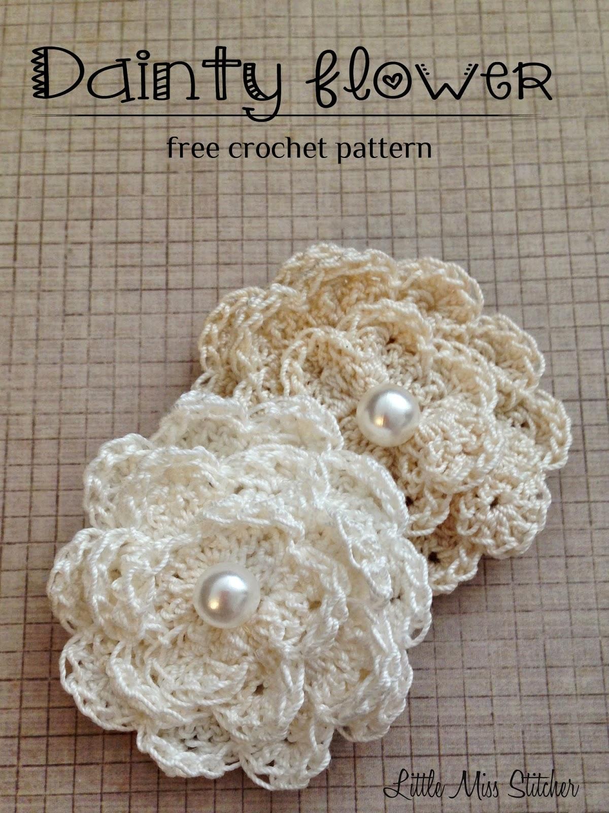 Dainty Crochet Flower Free Pattern 2