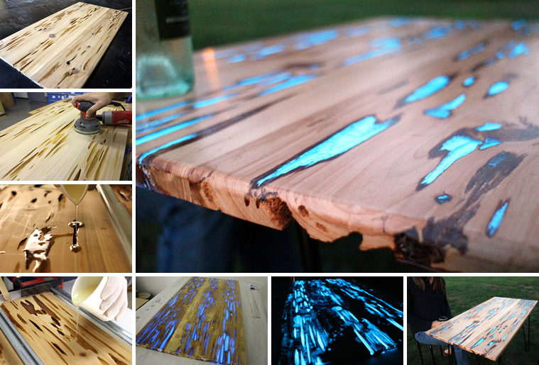 This coffee table glows in the dark here 39 s how - Glow in the dark resin table ...