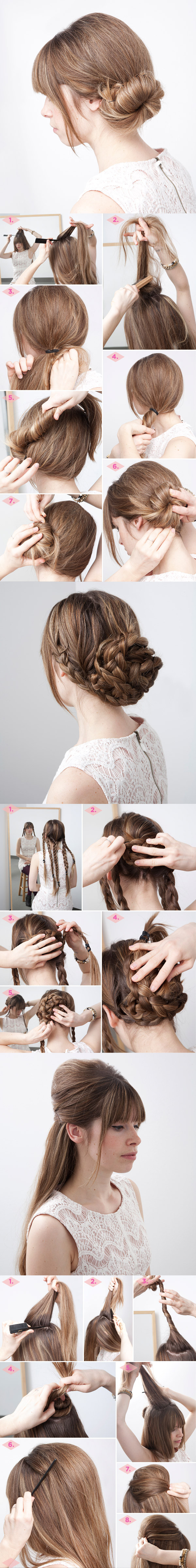 Oh So Simple Bun Hairstyles Tutorials 3 in 1 Hairstyle tutorial Wonderful 13 Simple Bun Hairstyles