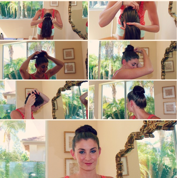 Oh-So-Simple-Bun-Hairstyles-Tutorials-Sleek-Hair-Knot