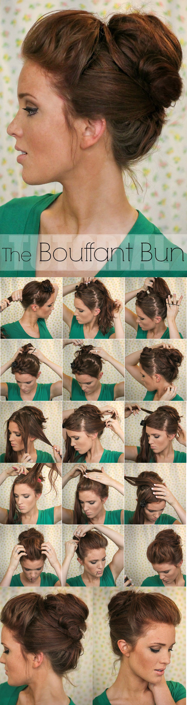Oh-So-Simple-Bun-Hairstyles-Tutorials-The-Bouffant-Bun