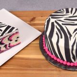 Wild Desserts: Pink Zebra Cake that Struts Out the Stripes