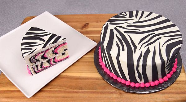 Wild Desserts Pink Zebra Cake that Struts Out the Stripes