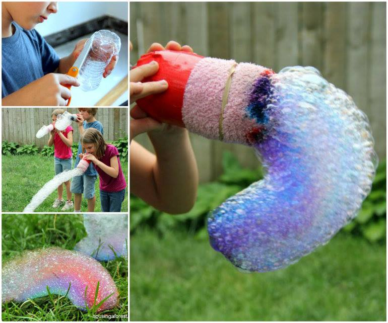 Rainbow Bubble Snakes wonderfuldiy Wonderful DIY Funny Rainbow Bubble Snake
