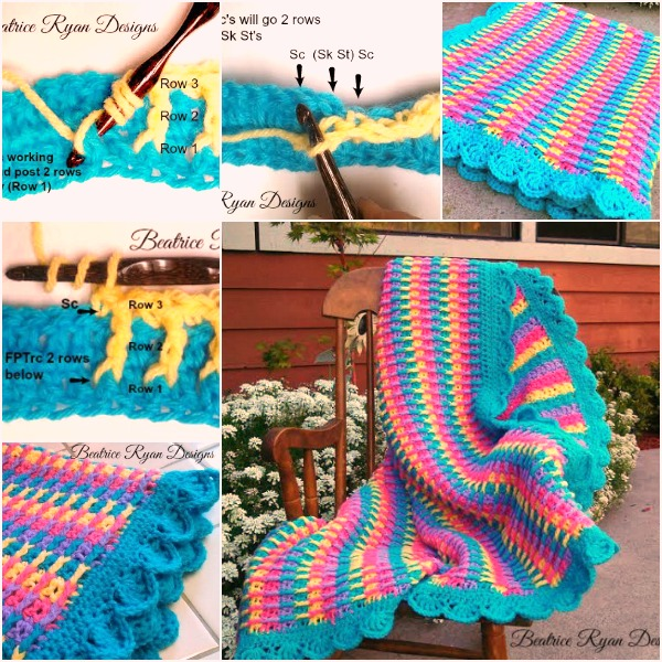 Wonderful Diy Crochet Rainbow Dash Baby Blanket With Free Pattern