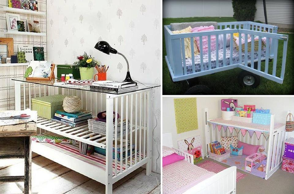 Re purpose Baby Cribs wonderfuldiy 10 Best Ways to Repurpose  Baby Cribs