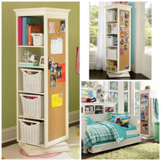 Wonderful DIY Rotating Storage Units with FREE Plan