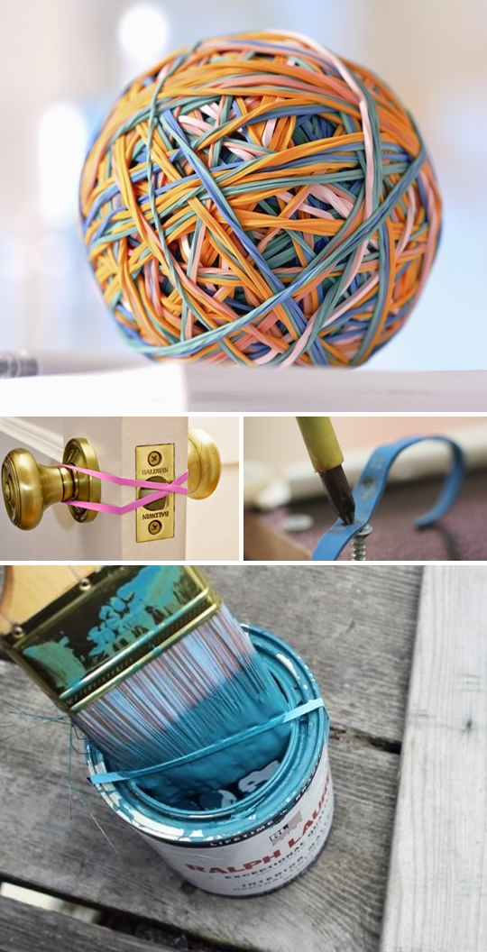 Rubber band hack ideas 10 Ways to Put Those Stacks of Rubber Bands to Good Use