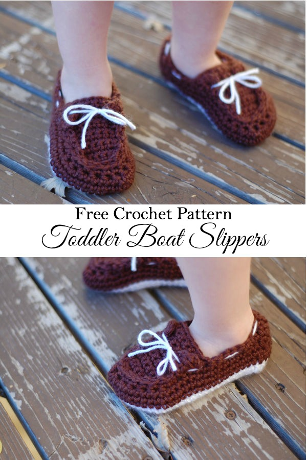 Toddlerboatslippers wonderfuldiy Wonderful DIY Crochet Boat Slippers with FREE Pattern