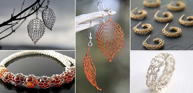 Wonderful diy wire crochet jewelry [free pattern].