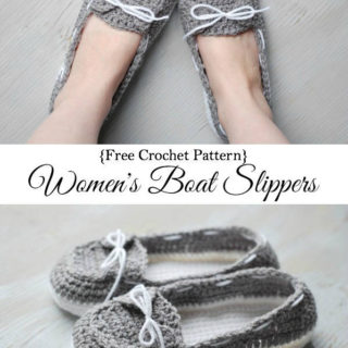 Wonderful DIY Crochet Boat Slippers with FREE Pattern